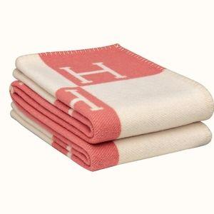 Hermes Avalon Baby Blanket Rose/White
